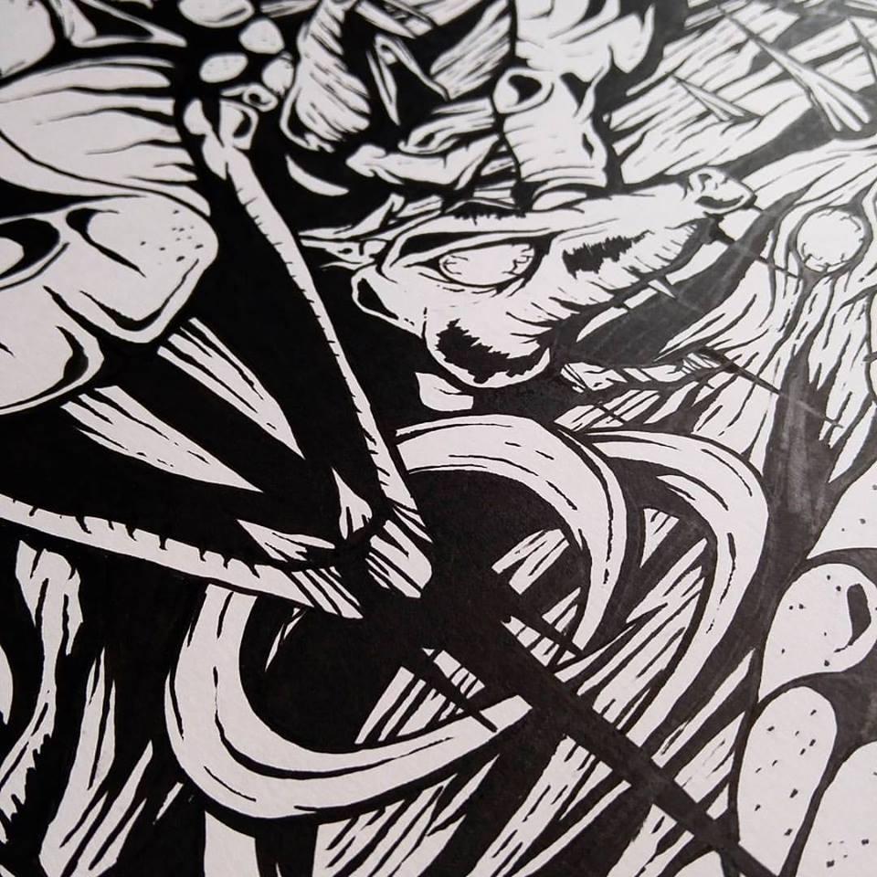 """""""Devoured by Vermin""""  closeup – VILE Exhibit"""