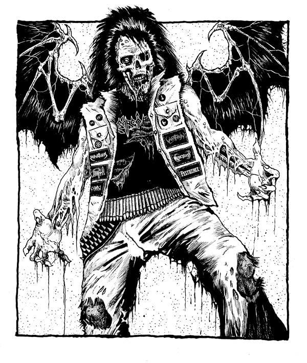 Illustration for Metal Horde zine