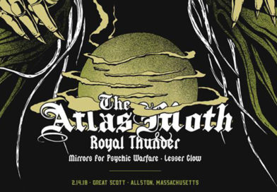 Live in Boston: THE ATLAS MOTH, ROYAL THUNDER, MIRRORS FOR PSYCHIC WARFARE, LESSER GLOW (2018/02/14)